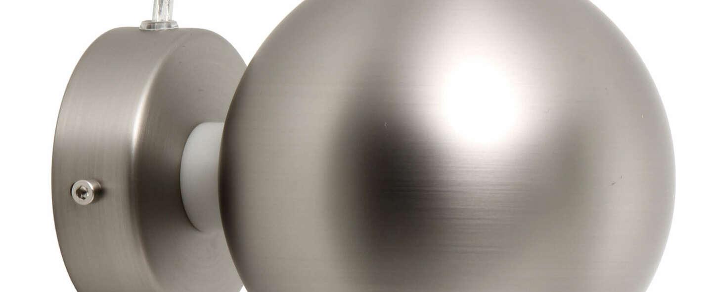 Applique murale ball satin brosse mat o12cm h10cm frandsen normal