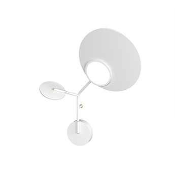 Applique murale ballon wall 3 blanc droite led 3000k 400lm l52cm h41cm tunto normal