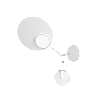 Applique murale ballon wall 3 blanc gauche led 3000k 400lm l52cm h41cm tunto normal
