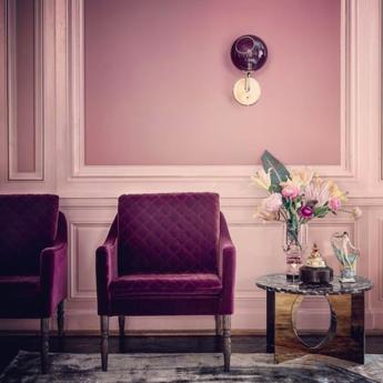 Applique murale ballroom violet o20cm h37cm design by us normal