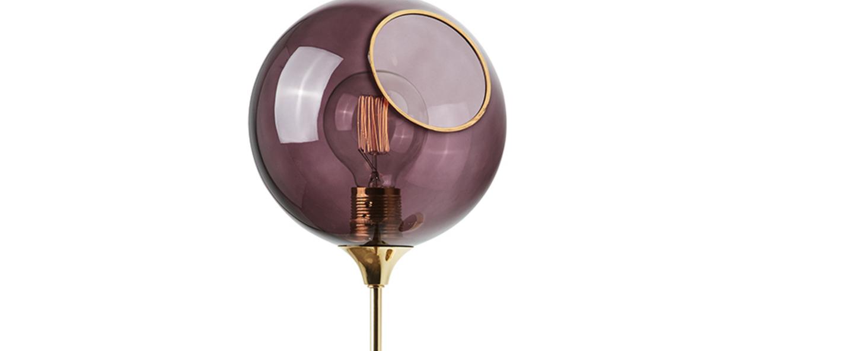 Applique murale ballroom xl violet o20cm h57cm design by us normal