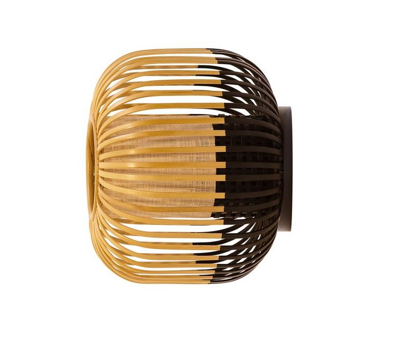applique plafonnier bamboo light m black bambou noir 45cm h40cm forestier luminaires. Black Bedroom Furniture Sets. Home Design Ideas