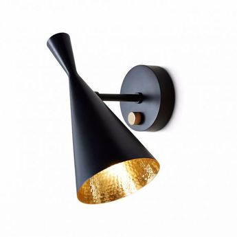 Applique murale beat noir o13cm h28 5cm tom dixon normal