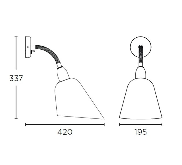 Bellevue arne jacobsen andtradition 20811396 luminaire lighting design signed 28411 product