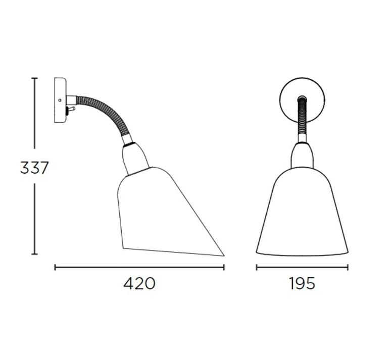 Bellevue arne jacobsen andtradition 20811394 luminaire lighting design signed 28401 product