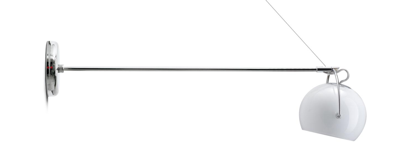Applique murale beluga blanc l45cm h7 5cm fabbian normal