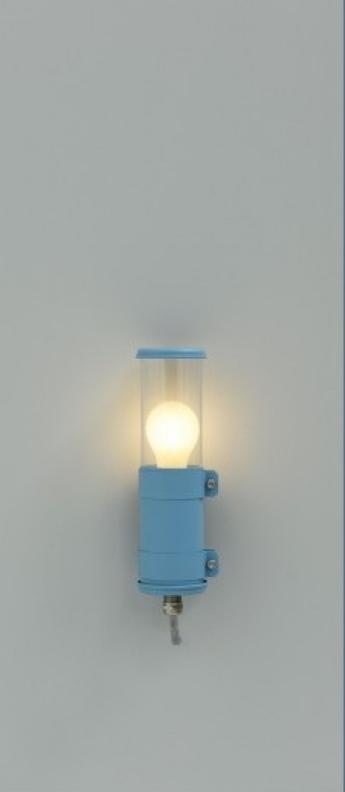 Applique murale bendz bleu ip67 o7cm h30cm sammode normal