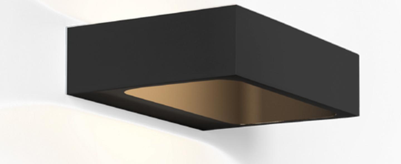 Applique murale bento 1 3 noir led l18cm h4 6cm wever ducre normal