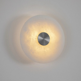 Applique murale bide albatre nickel ip65 led 2700k lm l18cm h18cm bert frank normal
