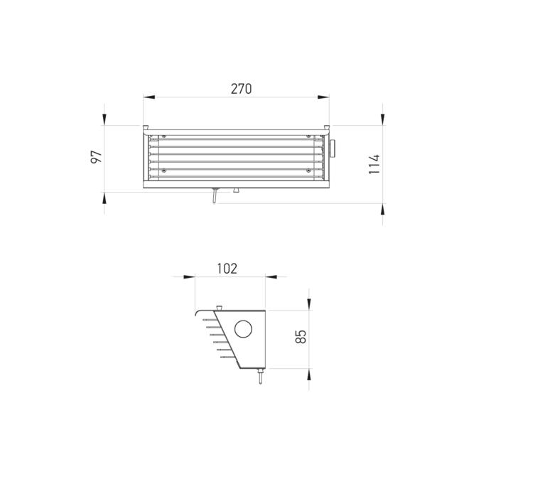 Biny box 2 jacques biny applique murale wall light  dcw biny box bl bl  design signed nedgis 86565 product
