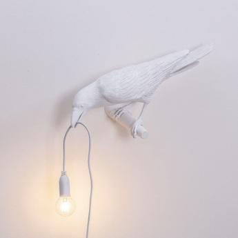 Applique murale bird corbeau looking blanc 2200k 120lm l32 8cm h12 3cm seletti normal
