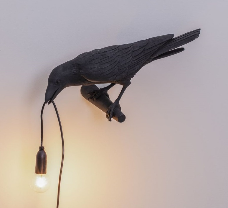 Bird corbeau looking marcantonio raimondi malerba applique murale wall light  seletti 14737  design signed nedgis 97154 product