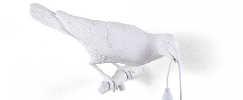 Applique murale bird lamp looking right indoor blanc l32 8cm h14 5cm seletti normal