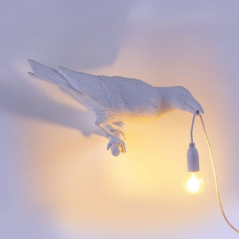 Applique murale bird lamp looking right indoor blanc l32 8cm h14 5cm seletti normal