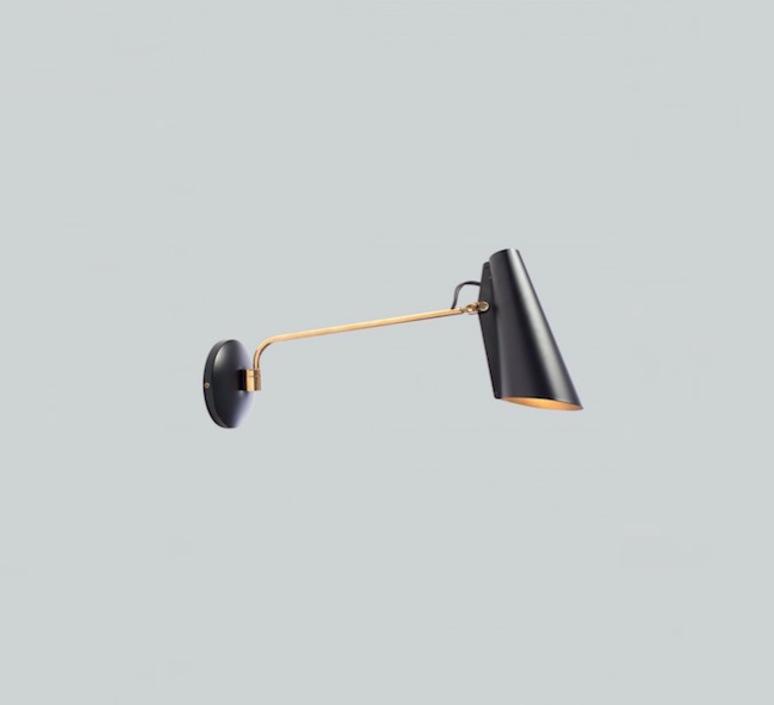 Birdy birger dahl northern lighting birdy wall black brass luminaire lighting design signed 22271 product