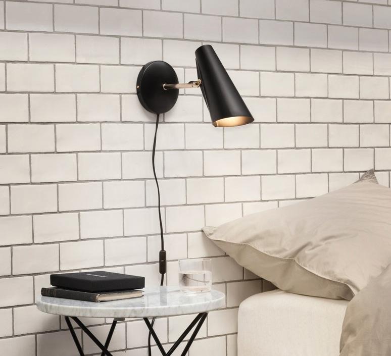 Birdy s birger dahl northern lighting birdy wall short black brass luminaire lighting design signed 18626 product