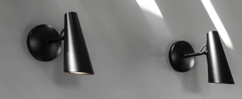 Applique murale birdy wall short noir led l19cm h31 5cm northern lighting normal