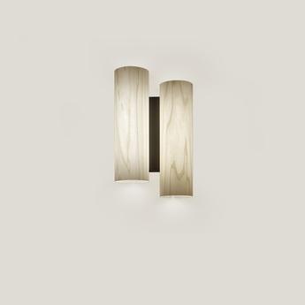 Wall light, Black Note DU, ivory, matt black metal, LED