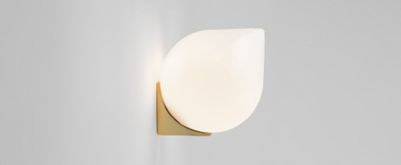 Applique murale bob blanc et laiton o15cm h18cm anastassiades studio normal