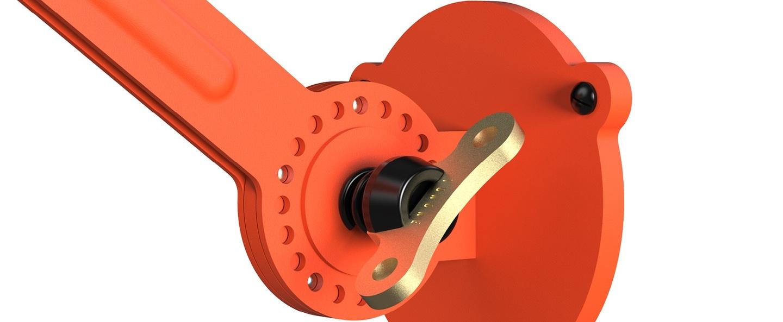 Applique murale bolt wall sidefit orange l44cm h29cm tonone normal
