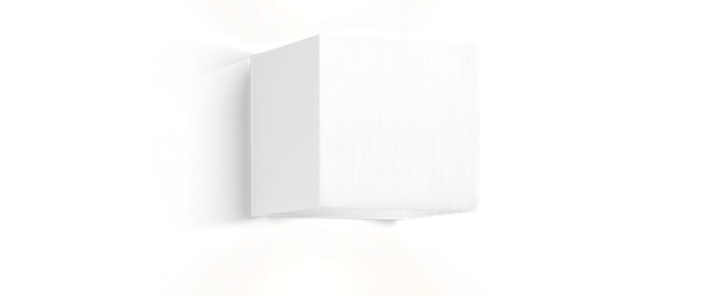 Applique murale box 1 0 blanc l10cm h10cm wever ducre normal