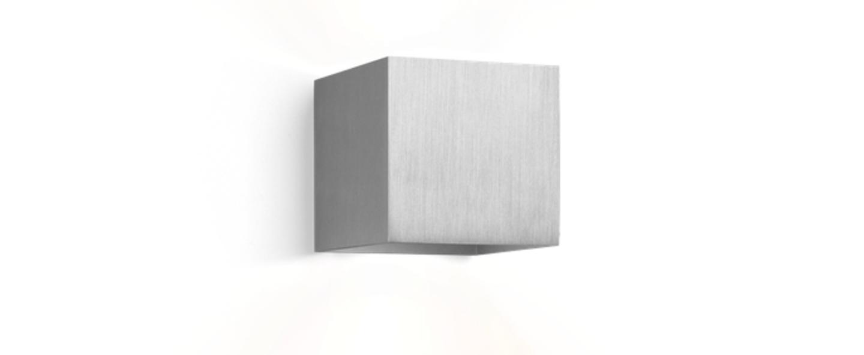 Applique murale box 1 1 aluminium brosse l10cm h10cm wever ducre normal