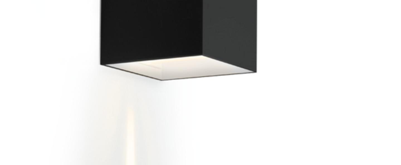Applique murale box 2 0 noir led l10cm h10cm wever ducre normal