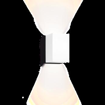 Applique murale box 3 0 blanc led l10cm h16cm wever ducre normal