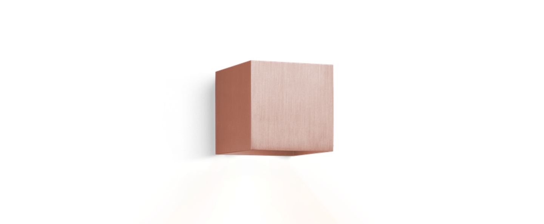 applique murale box cuivre bross h10cm l10cm wever. Black Bedroom Furniture Sets. Home Design Ideas