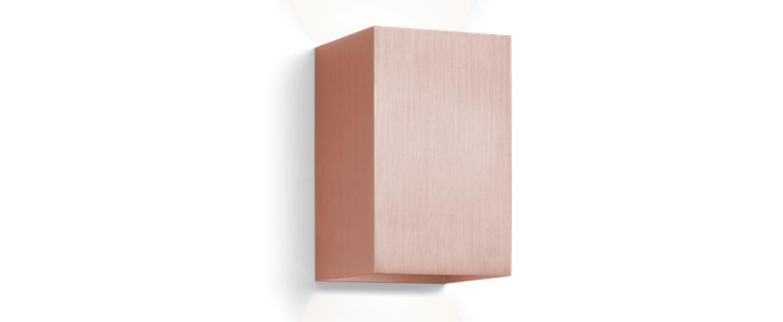 applique murale box led cuivre bross h16cm wever. Black Bedroom Furniture Sets. Home Design Ideas