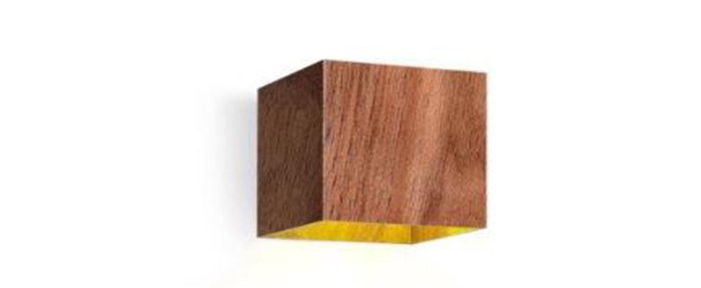 Applique murale box mini 2 0 bois noyer l10cm h10cm wever ducre normal