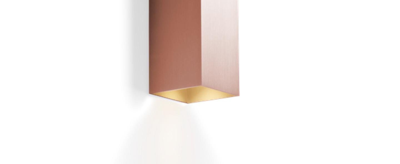 Applique murale box mini 2 0 cuivre l6 7cm h20cm wever ducre normal