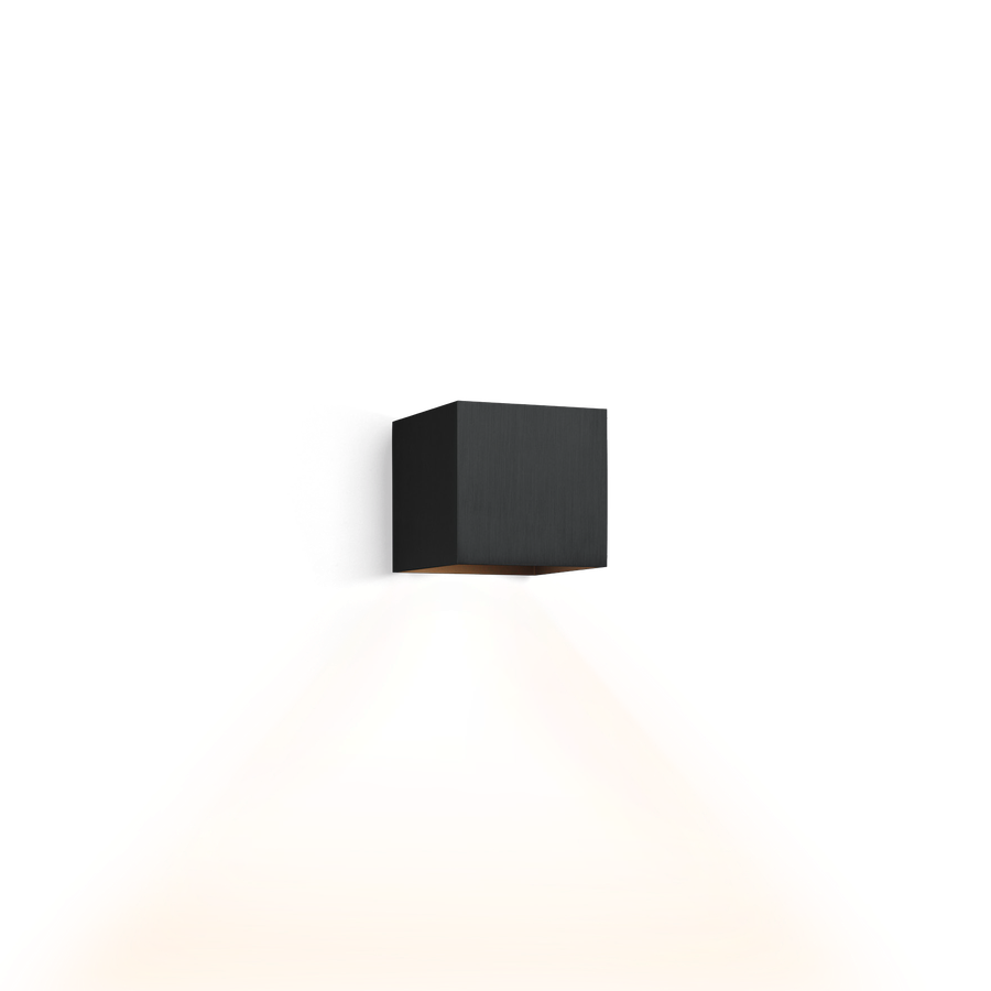 applique murale box 1 0 noir bross qt14 h10cm l10cm. Black Bedroom Furniture Sets. Home Design Ideas
