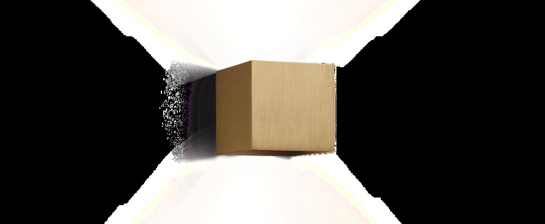 Applique murale box or brosse h10cm l10cm wever ducre normal