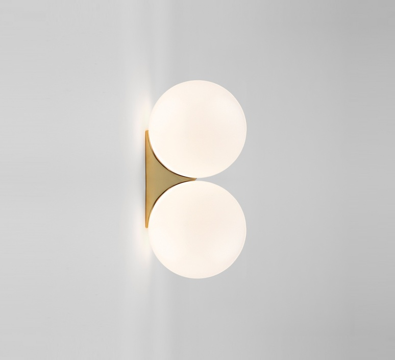 Brass architecturale double sconce michael anastassiades applique murale wall light  anastassiades ma ds150 pb   design signed 39712 product
