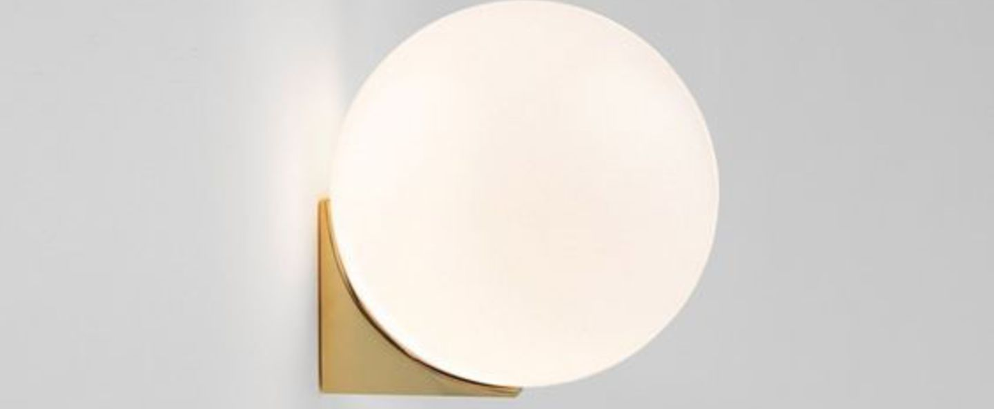 Applique murale brass architecturale sconce blanc et laiton o15cm h15cm anastassiades studio normal