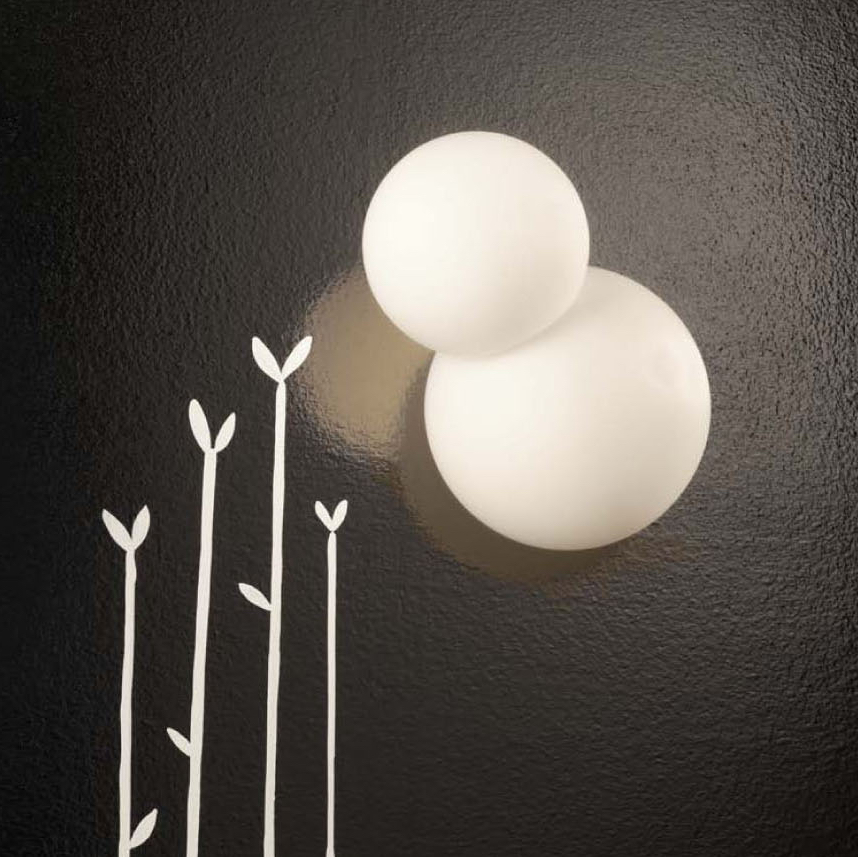 Wall light, Bruco, white, H19cm - Fontana Arte - Nedgis Lighting