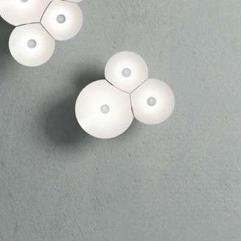 Applique murale bulbullia blanc l37cm h31cm luceplan normal