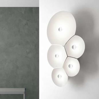 Applique murale bulbullia blanc l37cm h62cm luceplan 1d950a5d0002 normal