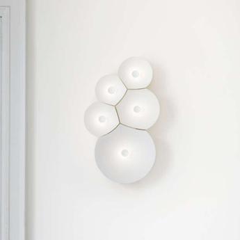 Applique murale bulbullia blanc l37cm h62cm luceplan normal