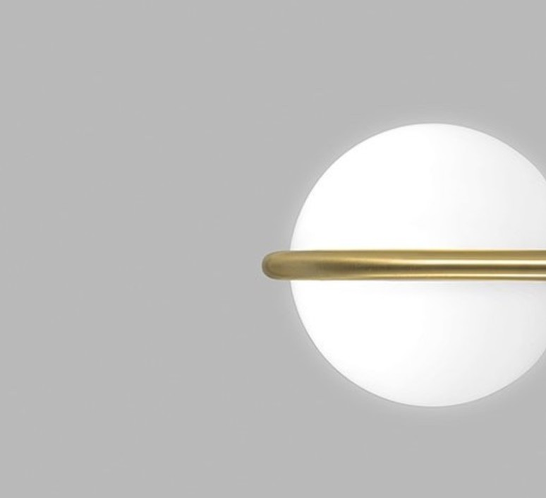 C ball w1 stone designs applique murale wall light  blux 748410  design signed 46726 product