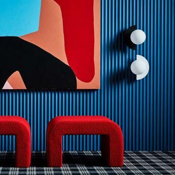 Applique murale c lamp big noir et blanc l37cm p30cm swedish ninja normal