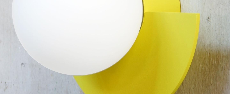 Applique murale c lamp small jaune l28cm h22cm swedish ninja normal