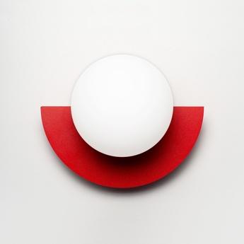 Applique murale c lamp small rouge l28cm h22cm swedish ninja normal