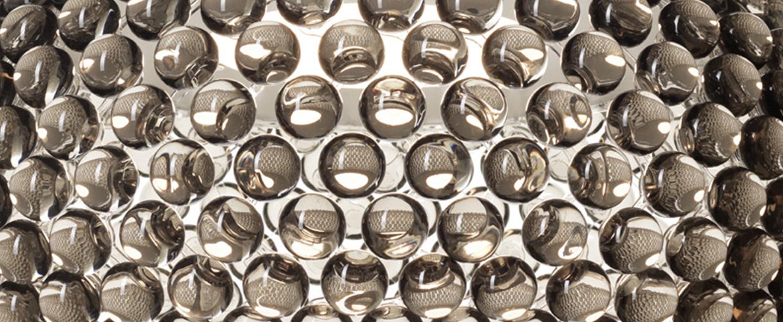 Applique murale caboche plus media gris led 2700k 1360lm l50cm h19 5cm foscarini normal