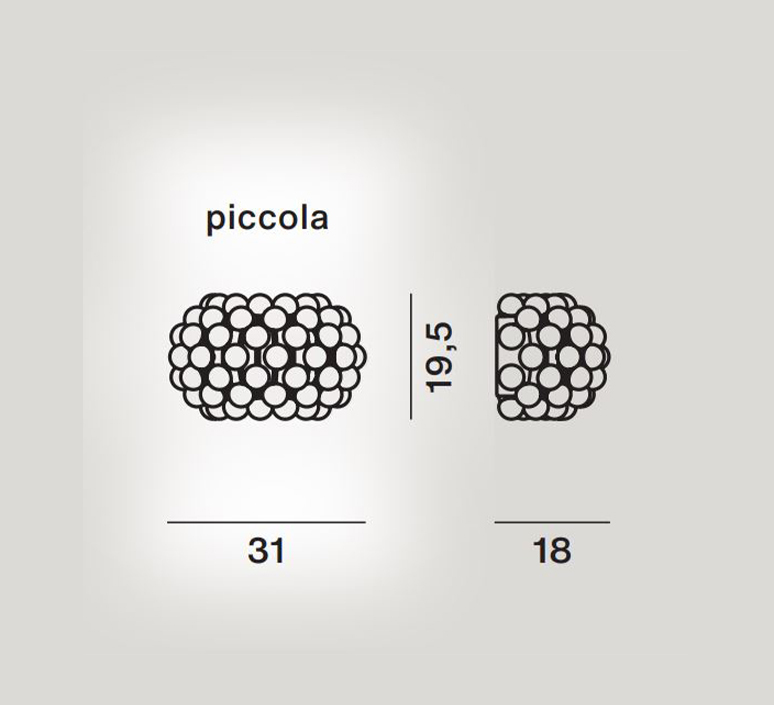Caboche plus piccola patricia urquiola applique murale wall light  foscarini 311025 25  design signed nedgis 109890 product