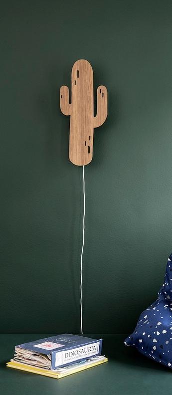 Applique murale cactus lamp marron led l21cm h47cm ferm living normal