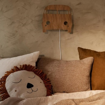 Applique murale car lamp chene l27cm h22 5cm ferm living normal