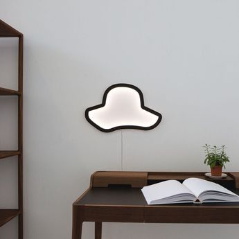 Applique murale chapeau chap o eleanore noir led l45cm h45cm atelier pierre normal