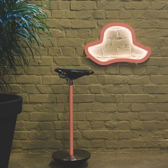 Applique murale chapeau chap o eleanore rose led l45cm h45cm atelier pierre normal